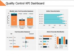 Quality Control Kpi Dashboard Ppt Powerpoint Presentation Gallery Diagrams