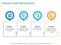 Quality Control Management Ppt Powerpoint Presentation Inspiration Deck