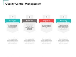 Quality Control Management Ppt Powerpoint Presentation Summary Example Introduction