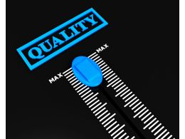 Quality Control Meter For Production And Business Stock Photo