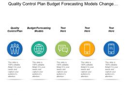 quality control plan budget forecasting models change management cpb
