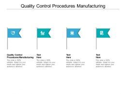 Quality Control Procedures Manufacturing Ppt Powerpoint Presentation Images Cpb