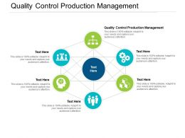 Quality Control Production Management Ppt Powerpoint Presentation Professional Master Slide Cpb