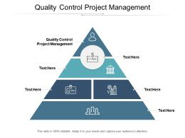 Quality Control Project Management Ppt Powerpoint Presentation Ideas Pictures Cpb