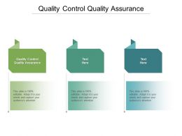 Quality Control Quality Assurance Ppt Powerpoint Presentation Gallery Format Ideas Cpb