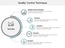 Quality Control Technique Ppt Powerpoint Presentation Gallery Example Cpb