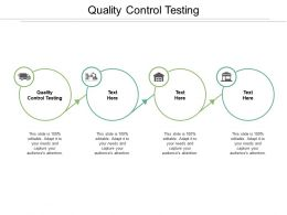 Quality Control Testing Ppt Powerpoint Presentation Model Slides Cpb