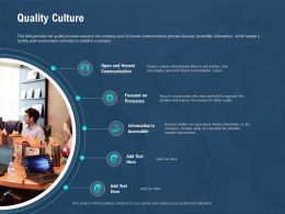 Quality Culture Communication M2591 Ppt Powerpoint Presentation Icon Deck