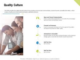 Quality Culture Information Is Accessible Ppt Powerpoint Presentation Show