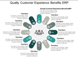 Quality Customer Experience Benefits Erp Ppt Powerpoint Presentation Ideas Information Cpb
