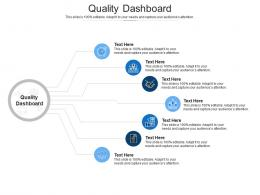 Quality Dashboard Ppt Powerpoint Presentation Slides Visual Aids Cpb