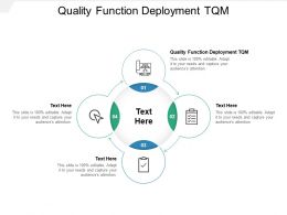 Quality Function Deployment TQM Ppt Powerpoint Presentation Infographic Template Cpb
