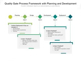 Quality Gate Process Framework With Planning And Development