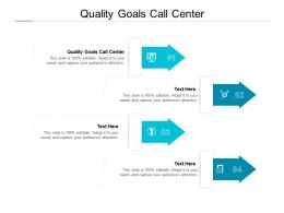 Quality Goals Call Center Ppt Powerpoint Presentation File Layout Cpb