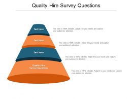 Quality Hire Survey Questions Ppt Powerpoint Presentation Infographics Format Ideas Cpb