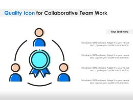 Quality Icon For Collaborative Team Work