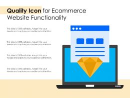 Quality Icon For Ecommerce Website Functionality