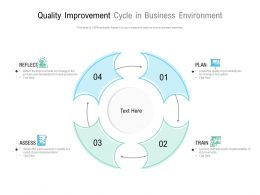 Quality Improvement Cycle In Business Environment