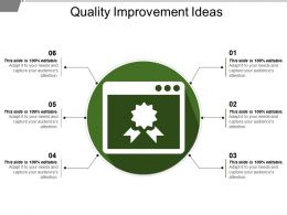 Quality Improvement Ideas Powerpoint Slides Design