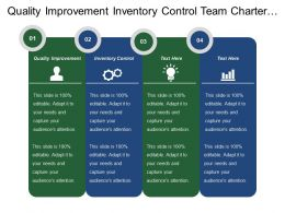 Quality Improvement Inventory Control Team Charter Team Roles