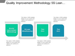 Quality Improvement Methodology 5s Lean Manufacturing Agile Project Management Cpb
