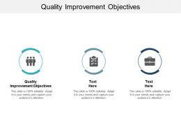 Quality Improvement Objectives Ppt Powerpoint Presentation Outline Graphics Download Cpb