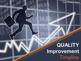 Quality Improvement Timeline Powerpoint Presentation Slides