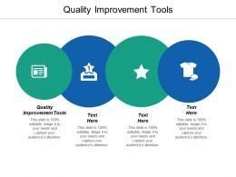 Quality Improvement Tools Ppt Powerpoint Presentation Model Rules Cpb