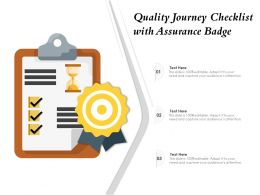 Quality Journey Checklist With Assurance Badge