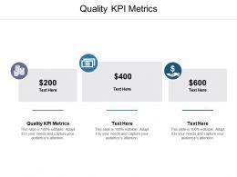 Quality KPI Metrics Ppt Powerpoint Presentation Portfolio Styles Cpb
