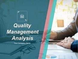 Quality Management Analysis Powerpoint Presentation Slides