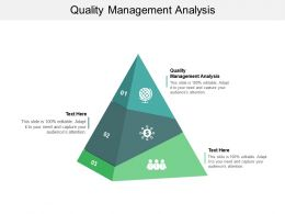Quality Management Analysis Ppt Powerpoint Presentation Show Brochure Cpb