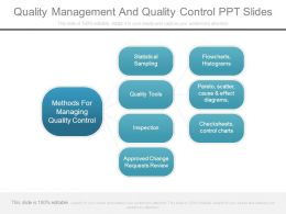 Quality Management And Quality Control Ppt Slides