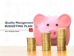 Quality Management Budgeting Plan Powerpoint Presentation Slides