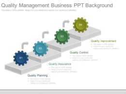 Quality Management Business Ppt Background
