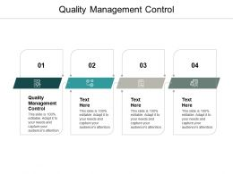 Quality Management Control Ppt Powerpoint Presentation Ideas Example Topics Cpb