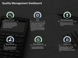 Quality Management Dashboard Powerpoint Slide Themes