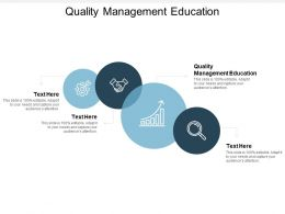 Quality Management Education Ppt Powerpoint Presentation Styles Cpb