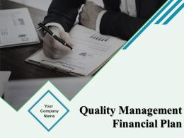 Quality Management Financial Plan Powerpoint Presentation Slides