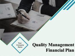 Quality Management Financial Plan Powerpoint Presentation Slides