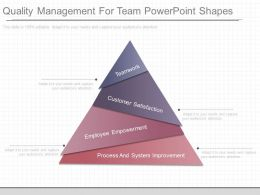 Quality Management For Team Powerpoint Shapes