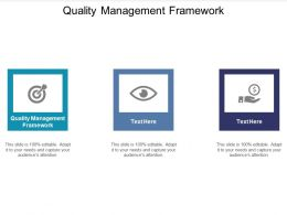 Quality Management Framework Ppt Powerpoint Presentation Visual Aids Images Cpb