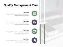 Quality Management Plan Ppt Powerpoint Presentation File Format Ideas Cpb