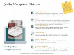 Quality Management Plan Tools That Will Ppt Powerpoint Presentation Pictures Portrait