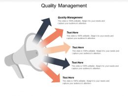 Quality Management Ppt Powerpoint Presentation Ideas Images Cpb