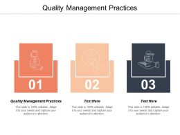 Quality Management Practices Ppt Powerpoint Presentation Styles Summary Cpb