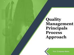 Quality Management Principals Process Approach Powerpoint Presentation Slide
