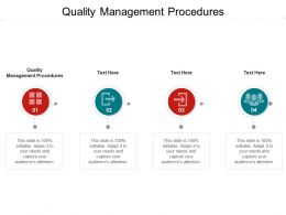 Quality Management Procedures Ppt Powerpoint Presentation Outline Cpb