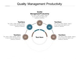 Quality Management Productivity Ppt Powerpoint Presentation Model Themes Cpb