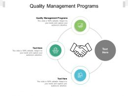 Quality Management Programs Ppt Powerpoint Presentation Professional Sample Cpb